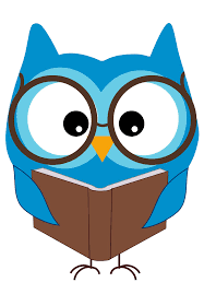 owl with glasses reading a book